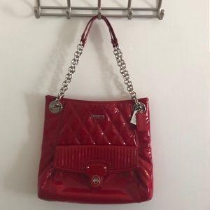Patent Red Coach Purse